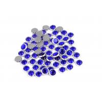 Quality 12 / 14 Facets Rimmed Rhinestones Lead Free Round Shape For Nail Art / Shoes for sale