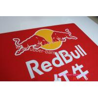 Quality Rectangular Red Rubber Door Mat Eco-friendly With Redbull Logo for sale