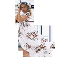 Quality Holiday Beach Women'S Short Sleeve Casual Dresses 100% Polyester for sale