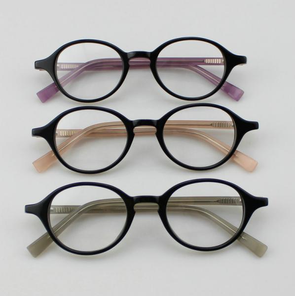Retro Acetate Round Eyeglasses Frames, Custom Handmade ...