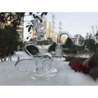 Clear Beaker Bottom Large Tube , Perc Glass Water Pipe With Downstel And Bowls