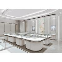 Quality Matte White Jewelry Store Display Cases , Jewellery Display Counter for sale