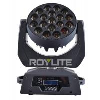 Quality 19 x 12w Multi RGBW 4 in 1 Led Moving Head Wash Bright Beam Big Lens Angle 8° for sale