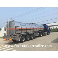 Buy cheap 3 Axles petrol / palm oil / diesel tank trailer 50000l with 1 - 7 compartments from Wholesalers