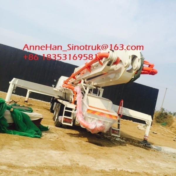 Buy Iso Ccc 37m Concrete Pump Trailer HOWO Concrete Mixer Truck Energy Saving at wholesale prices