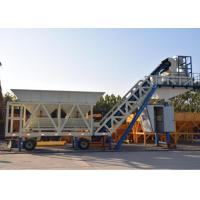 Quality Ready Concrete Batch Mix Plant Movable With Cement Silos 30kw Mixer Power for sale