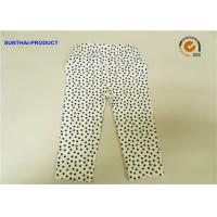 Quality Eco Friendly Cute Baby Girl Leggings Blue Dots With Elastic Waistband for sale