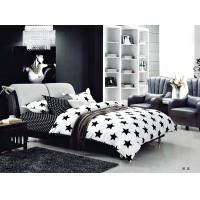 Quality 100 Percent Polyester Girls Bedroom Bet Sets Black And Whtie Striped Bedding for sale