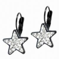 Quality Star Earrings, Customized Sizes and Logos Welcomed for sale