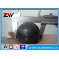 Quality Cement plant high chrome casting grinding steel ball / ISO 9001-2008 for sale