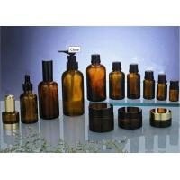 Quality  15ml, 20ml, 30ml Comestic Amber Glass Bottles With DIN 18mm Amber Drop, USP, EP for sale