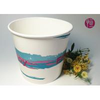Buy cheap 85oz 300gsm Double PE Paper Popcorn Buckets/Tub Food Grade Logo Print from wholesalers