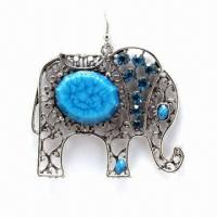 Quality Fashionable Rostone Drop Earrings, Available in Various Colors for sale