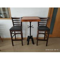 Buy cheap Mild Steel Bar Table legs Height Adjustable Bar Table Bag Hooker Cafe Table from wholesalers