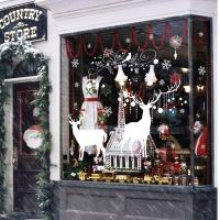 Buy Christmas Tree David'S Deer Christmas Wall Stickers PVC Bedroom Decoration at wholesale prices