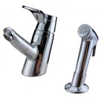 Unique 2 Hole Ceramic Low Pressure Basin Taps Faucets Pull Out Shower Head