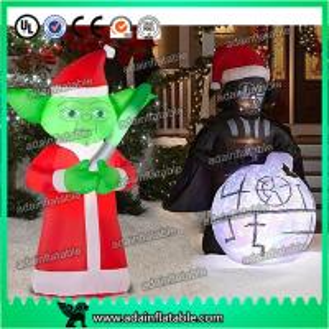 Quality Christmas Decoration Inflatable Cartoon Customized Star War Cartoon Inflatable for sale