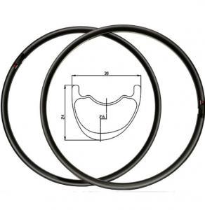 Quality 29 26 Carbon MTB Rims And Tires Lightweight , Carbon Fiber Mountain Bike Rims for sale