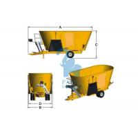 Quality Yellow Cattle Feed Grinder Mixer , High Speed Grain Feed Mixer Grinders For Livestock for sale