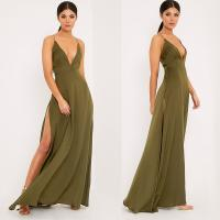 China New arrival khaki sexy women chic party dress on sale