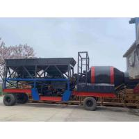 Quality Large Mobile Concrete Mixing Plant 3.8m Discharge Height For High Intensity Work for sale