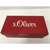 Quality Red Shoe Storage Box With Lid Food Grade Recycle Material Environmental for sale
