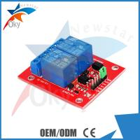 Quality 8cm x 8cm x 5cm Red Board For Arduino , 5V / 12V 2 Channel Relay Module for sale