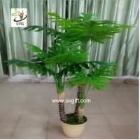 Uvg plt16 potted plastic philodendron artificial house for Artificial plants indoor decoration