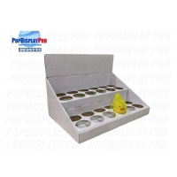 Quality Round Hole Dividers 1 Tier FSC End Cap Displays for sale