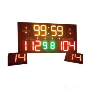 China Customized Design LED Basketball Scoreboard Single Sided 3.6 ' X 3.9 ' X 4'' on sale