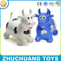 Quality OEM kids plastic toy jumping cow animal ride for sale