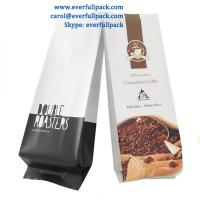 China China factory new product Custom plastic laminated side gusset packaging bags for coffee packing on sale