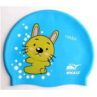 China Lovely Cute Cartoon Silicone Swimming Caps For Children , Boys , Girls on sale