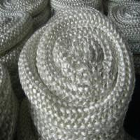 Quality Fireproof Glass Fibre Rope , 10mm White Oven Door Sealing Rope for sale