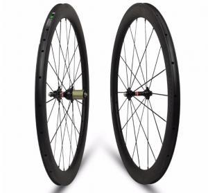 Quality Tubular Tubeless Carbon Road Bike Wheels For 30 38 47 60mm Clincher 3mm Braking Side for sale