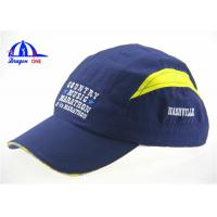 Men's Fashion Polyester Sports Baseball Caps With Embroidery , Customized Caps and Hats