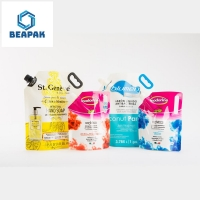 China Biodegradable Juice Drink Stand Up Liquid Pouch With Spout on sale