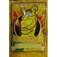 Quality Glossy Herbal Incense Bag 10g Scooby Snax Hologram Yellow Potpourri for sale