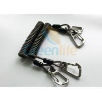 China High Security Coil Tool Lanyard Steel Reinforced 125MM Retractable Extension Cord on sale