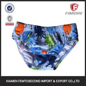 Quality 80%polyamide;20%elasthane baby's sea printed brief Swimwear brief for sale