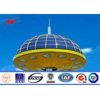Quality 8 Sides 4mm Painting 35M  High Mast Pole for Plaza Lighting with Winch for sale