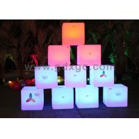 Quality Waterproof LED ottoman cube Glow Chair with huge capacity rechargeable lithium battery for sale
