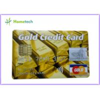 Buy cheap Real Capacity 2gb / 4gb / 8gb 16gb 32gb GOLD Credit Card shape USB Storage from wholesalers