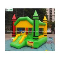 Quality Indoor Mini Crayon Jumping Castles For Adults / Backyard Obstacle Course Fun for sale