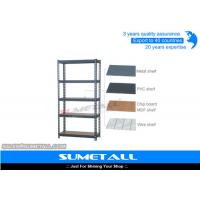 China Free Standing Boltless Rivet Shelving Industrial Metal Shelves For Storage on sale