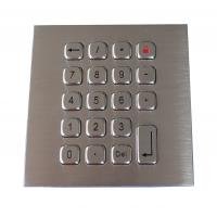 China 19 Keys Water Proof Metal Keypad Stainless Steel PS2 USB RS232 RS485 on sale