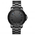 Quality Luxury Minimalist Waterproof Watch , Black Mens Bracelet Watch Logo Customized for sale