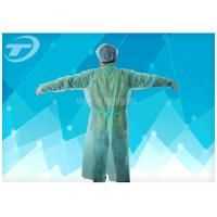 Quality Medical Lab Breathable Disposable Scrub Suits Non woven With Shirt Collar Knitted Cuff for sale