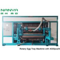 Quality Automatic Pulp Molding Equipment / Rotary Recycle Paper Egg Tray Manufacturing Machine for sale