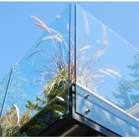 Buy cheap Balustrade  Balcony Tempered Glass Panel Easy Cleaning 12mm Safety from Wholesalers